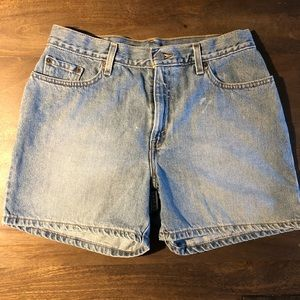 Vintage 90's Distressed Levi's Jean Shorts Size 12